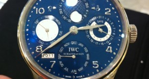 IWC Portuguese Perpetual Calendar in White Gold with a Blue Dial