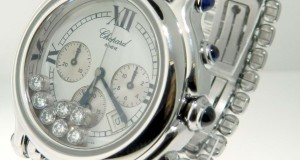 Chopard Happy Sport Floating Diamond Chronograph Stainless Steel Watch