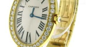 Cartier Baignoire 18K Gold Diamond Watch