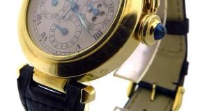 Pasha de Cartier Perpetual Calendar Moon Phase Gold Watch