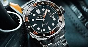 Alpina Extreme Diver 300 Orange Bezel Watch