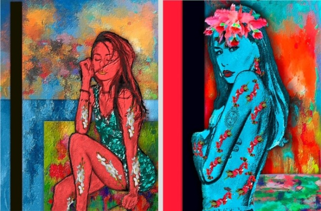 Contemporary art; Paintings by Sylvia Rendon
