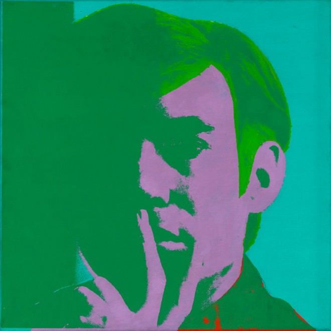Large Artwork Exhibition of Andy Warhol at the Whitney Museum