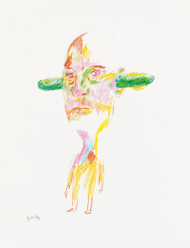 Inexpensive Original Art: The Exhibition of Drawings by Erwin Wurm