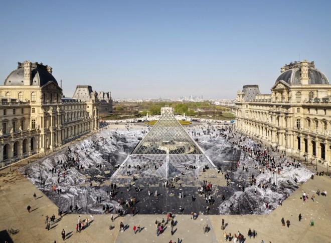 The Amazing Louvre Trompe L'oeil