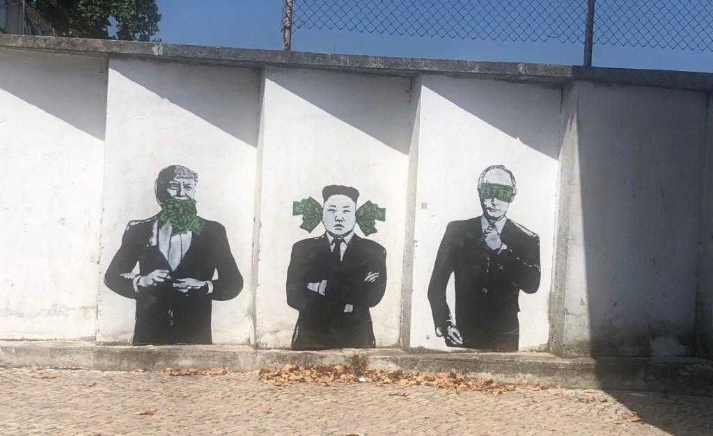 Stencil Street Art by STRA